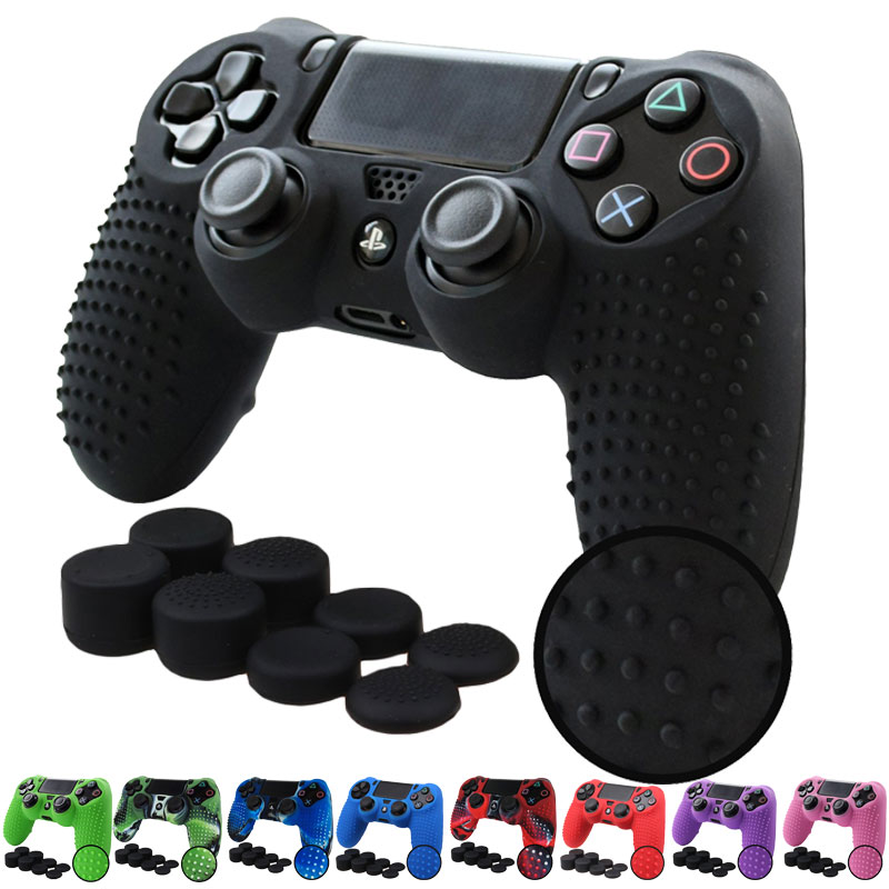 все цены на PS4 /PS4 SLIM /PS4 PRO Controller STUDDED Anti-slip Silicone Cover Case and 8x Thumb Grips caps for Playstation 4 Dualshock 4 онлайн