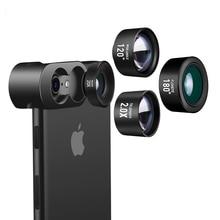 Телеобъектив широкоугольный объектив рыбий глаз специальный эффект объектив для iphone X 8 7 plus три в одном дизайне высокого класса металлический корпус объектив