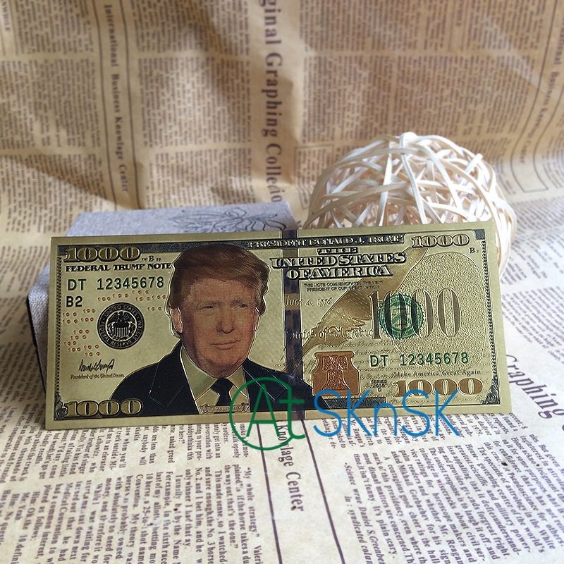 500pcs/lot President Donald Trump Item US Dollar Gold Banknote Set 1000 USD  Banknotes Luxury Gift Free Shipping DHL-in Gold Banknotes from Home &  Garden on ...