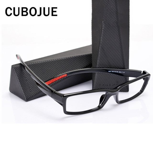 58f2febdb12 Cubojue TR90 Glasses Frame Men Women Sport Style Wide Temple Ultra-light Eyeglasses  Frames for