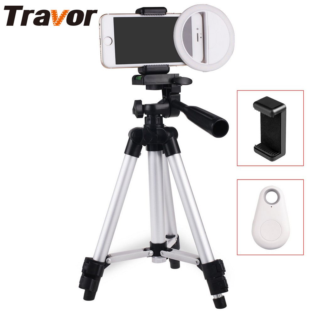 Travor Enhancing Photography Selfie Ring Light for Smartphone +130cm Tripod+Phone holder+Bluetooth remote control