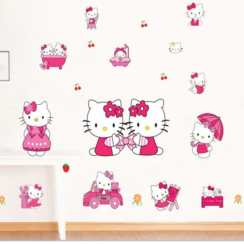 Aliexpress.com : Buy NieNie Wall Stickers Lovely PVC Hello Kitty Wall  Sticker Home Decor
