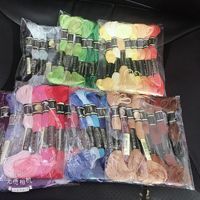 200 Different Colours Cotton Embroidery Floss similar dmc threads color mercerized Cross Stitch Thread 6 strands