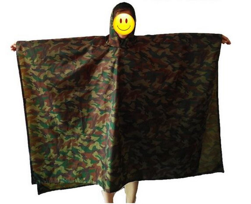 Triple multifunction raincoat, mat, rain cover. Mountaineering outdoor multi-purpose, do mat moisture pad thickening poncho use.