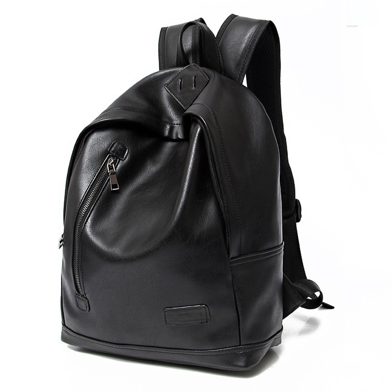 New Fashion Backpack Men PU Leather Backpack For Teenagers Men's Backpack School Bags Large Capacity Backpacks Male Laptop Bag цена