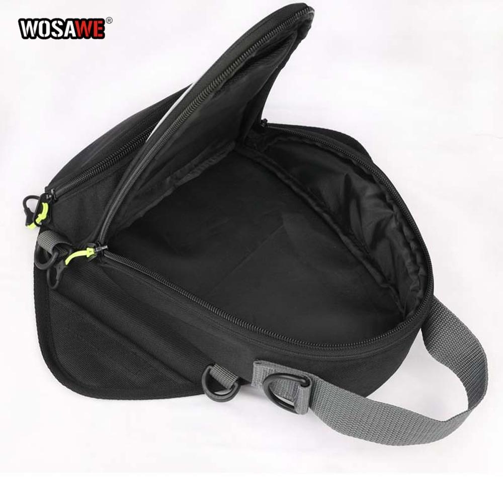 Image 5 - WOSAWE мотоциклетная топливная сумка для навигации по мобильному телефону Сумка Многофункциональная маленькая масляная емкость пакет магнитные фиксирующие петли фиксированные-in Сумки на бак from Автомобили и мотоциклы