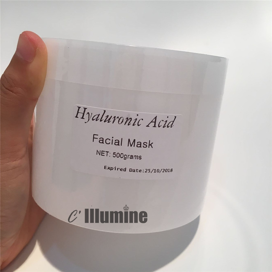 Firming Hyaluronic Acid Moisturizing Mask Contractive Pore Skin Care Equipment Beauty Salon Products 500g caviar anti wrinkle moisturizing skin care face mask firming cosmetics 1000g beauty hospital equipment salon wholesale