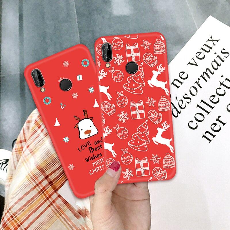 Winter Phone Case For Huawei Mate 20 10 Lite P20 Pro P10 Lite P Smart Plus Nova 3 3E 3I 2I Cases Lovely Christmas Soft TPU Cover