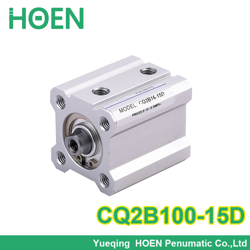 SMC Type CQ2B series CQ2B100-15 bore 100mm stroke 15mm Double Acting single rod Pneumatic Compact Cylinder with high quality general model cxsm32 50 compact type dual rod cylinder double acting 32 40mm