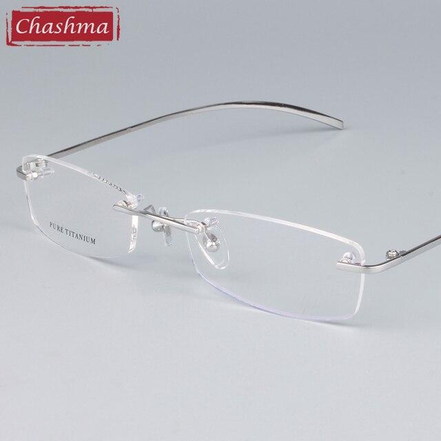 fe49f06b22 Chashma gafas Unisex montura de gafas de titanio montura de gafas sin  montura para hombre y