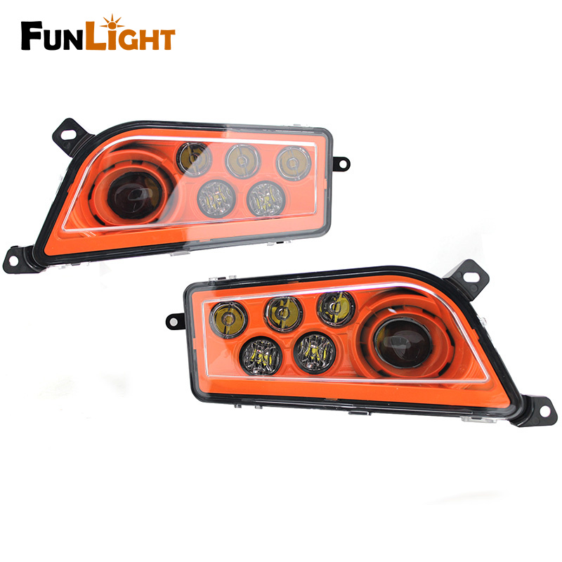 Funlight NEW ATV/UTV LED Headlight kit Headlamp for Polaris Razor Push 1000 Orange voltage regulator rectifier for polaris rzr xp 900 le efi 4013904 atv utv motorcycle styling
