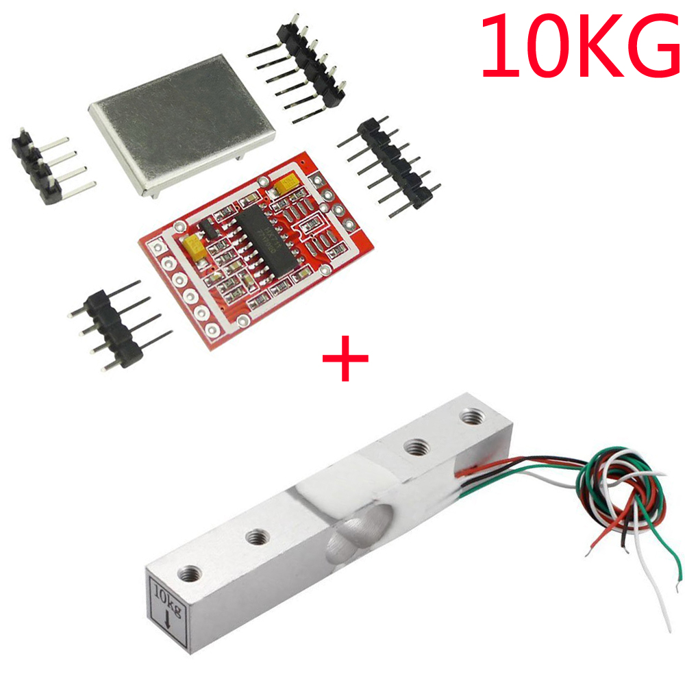 10KG Digital Load Cell Weight Sensor Portable Electronic Kitchen Scale + HX711 AD Weighing Sensor Module Metal Shied for Arduino  - buy with discount