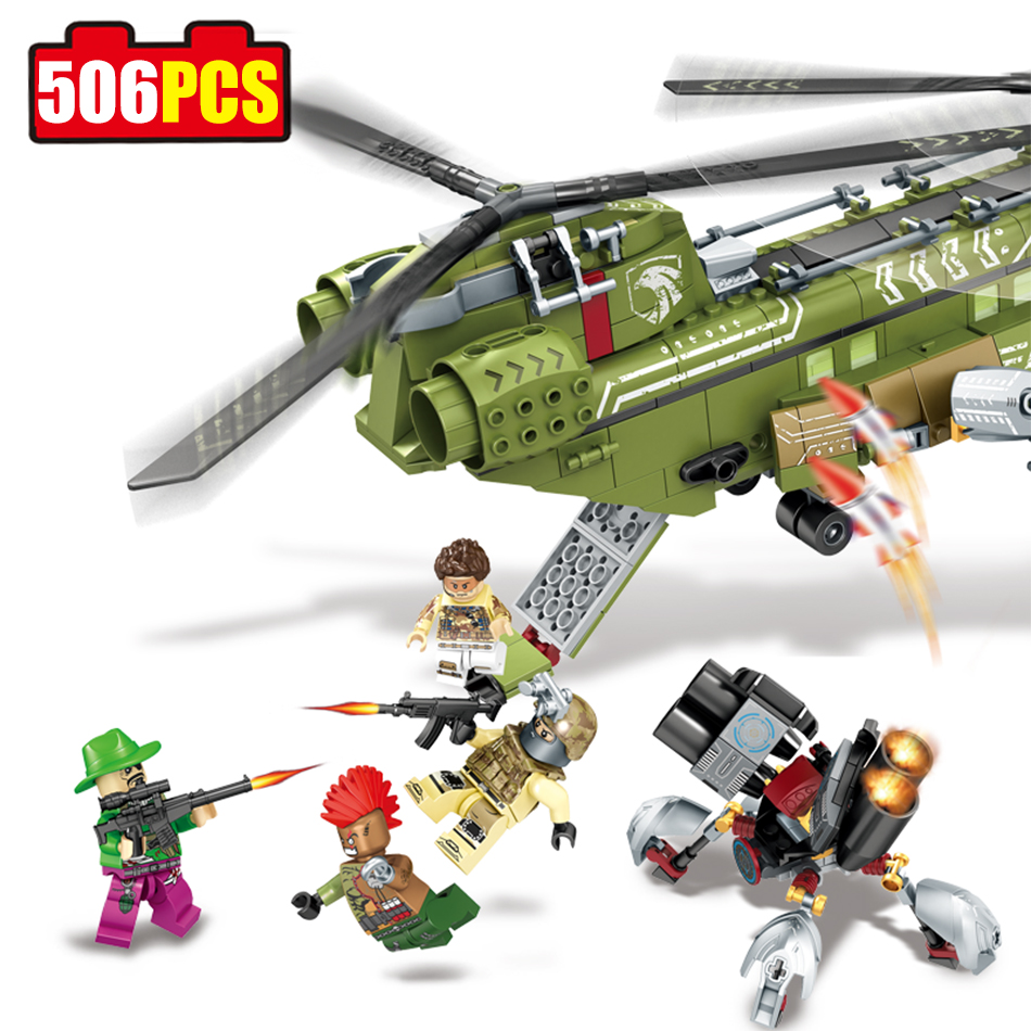 Sembo Army Black Gold Military Building Blocks Compatible Legoe City DIY Helicopter Action Figures Enlighten Bricks Toys For Kid 128pcs military field legion army tank educational bricks kids building blocks toys for boys children enlighten gift k2680 23030