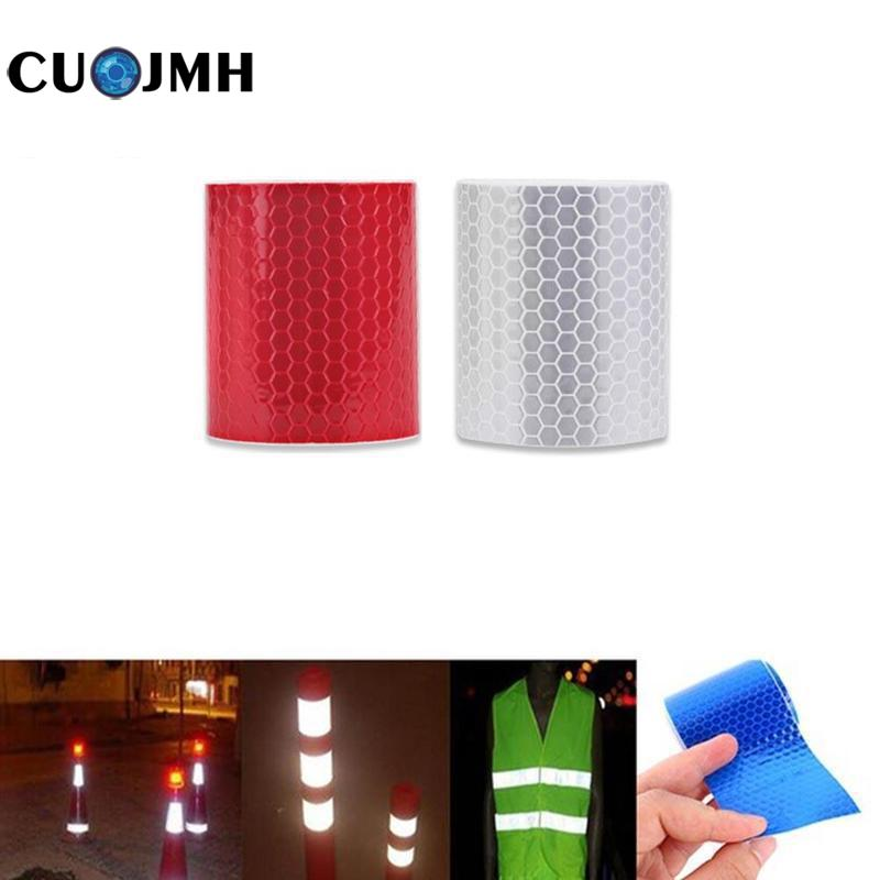 5cm X 3m Safety Mark Reflective Tape Crystal Color Lattice Reflective Film 6 Colors Car Styling Self Adhesive Warning Tape(China)