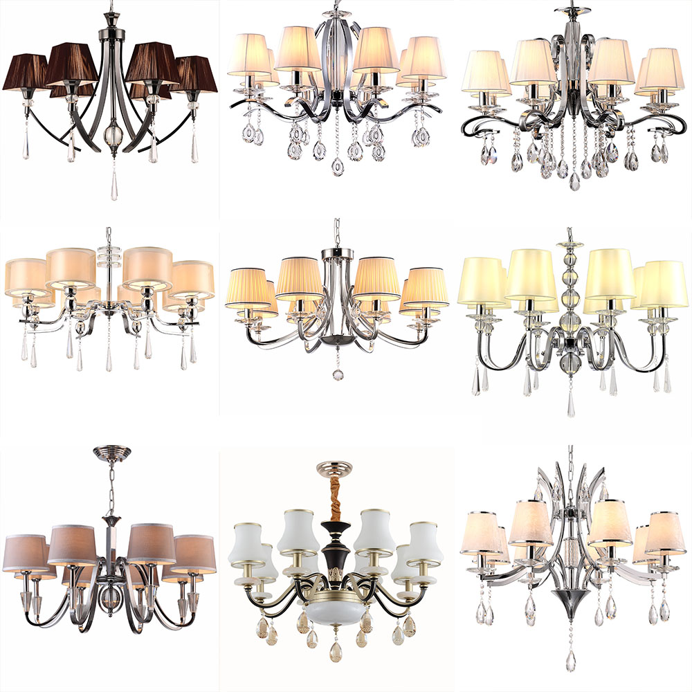 Suspension Lustre Design Hghomeart 6/8head Luxury Crystal Chandeliers For The