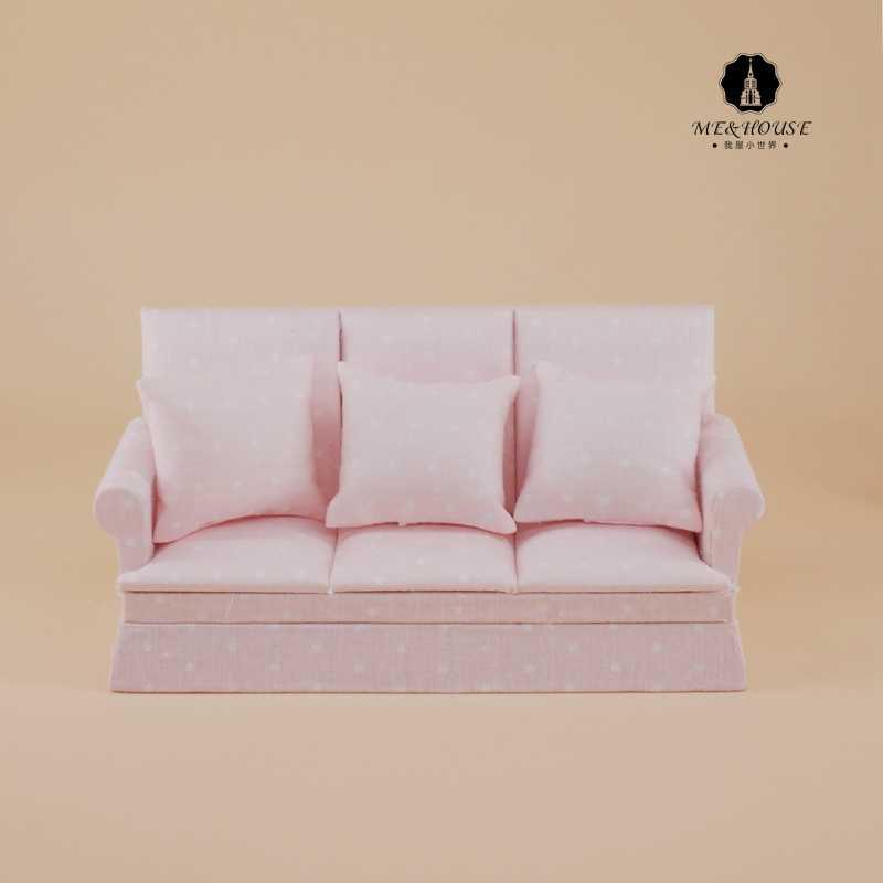 Новый Миниатюрный Кукольный диван деревянный мини кукольный домик мебель мягкие settee с подушки детские 1:12 весы