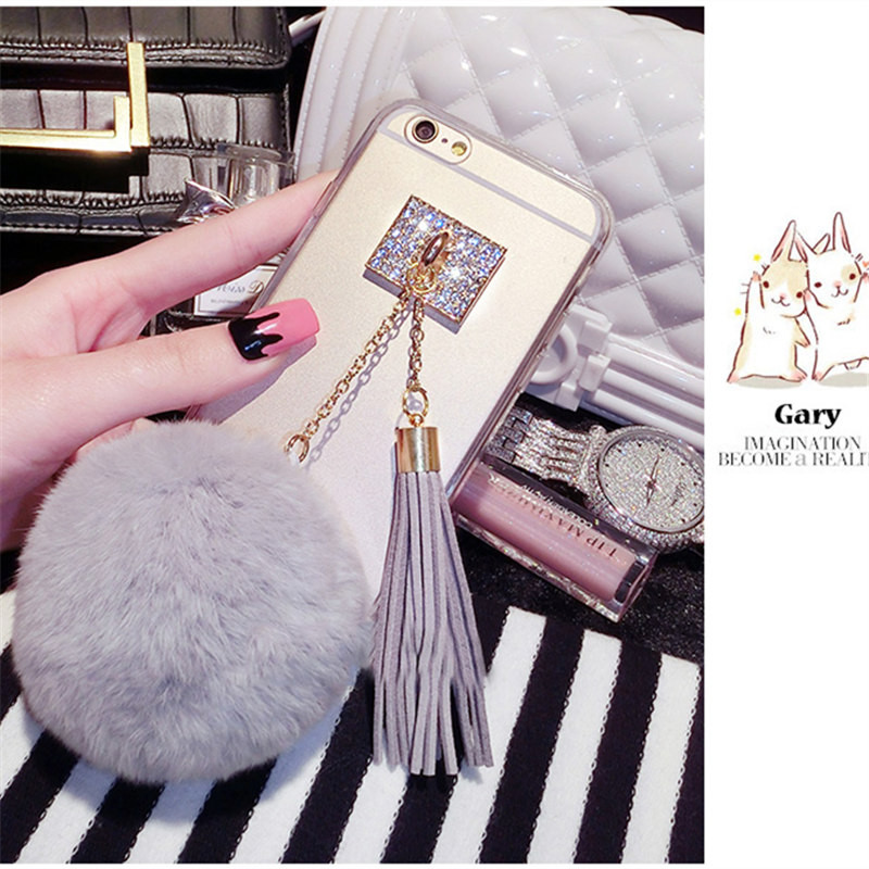 Good Case For Samsung J3 J5 J7 2016 2017 Prime Pro Luxury Fashion Tassels Fur Ball Pompom Transparent Phone Case Soft Tpu Capa Coque Phone Bags & Cases