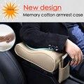 Almohadilla de Espuma de Memoria suave universal auto apoyabrazos apoyabrazos coche cubre caja del asiento reposabrazos de la consola central del coche almohadillas teléfono protectora caso