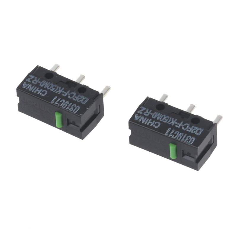 2Pcs Original OMRON Mouse Micro Switch D2FC-F-K(50M)-RZ Green Dot 50 Millions Click Lifetime For Razer Micro Switch