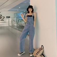 2019 Fashion Women Denim Jumpsuit Ladies Spring Fashion Loose Jeans Rompers Fema