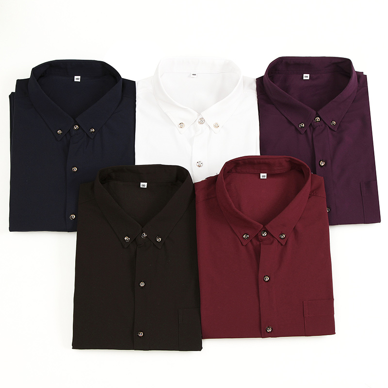 Earnest 9xl 10xl Men Dress Shirts Long-sleeve Turn-down Collar Smart Plus Size M-7xl 8xl Casual Shirts Military Solid Color Mens Tops Always Buy Good Shirts