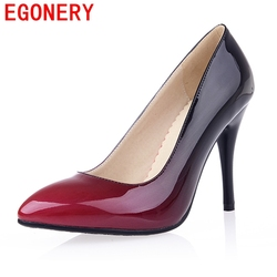 Egonery shoes 2017 patent leather women high heels footwear pointed toe high heel woman shoes plus.jpg 250x250