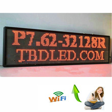 77X30cm WIFI RED 32*96 indoor Store Remote LED Display board Scrolling text LED open sign billboard
