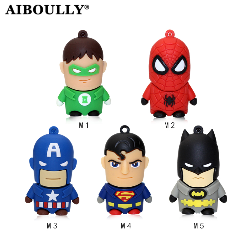 Superman Batman Usb Stick 4gb 8gb 16gb 32gb 64gb Flash Memory Stick Pendrive USB Flash Drive For Tablet PC