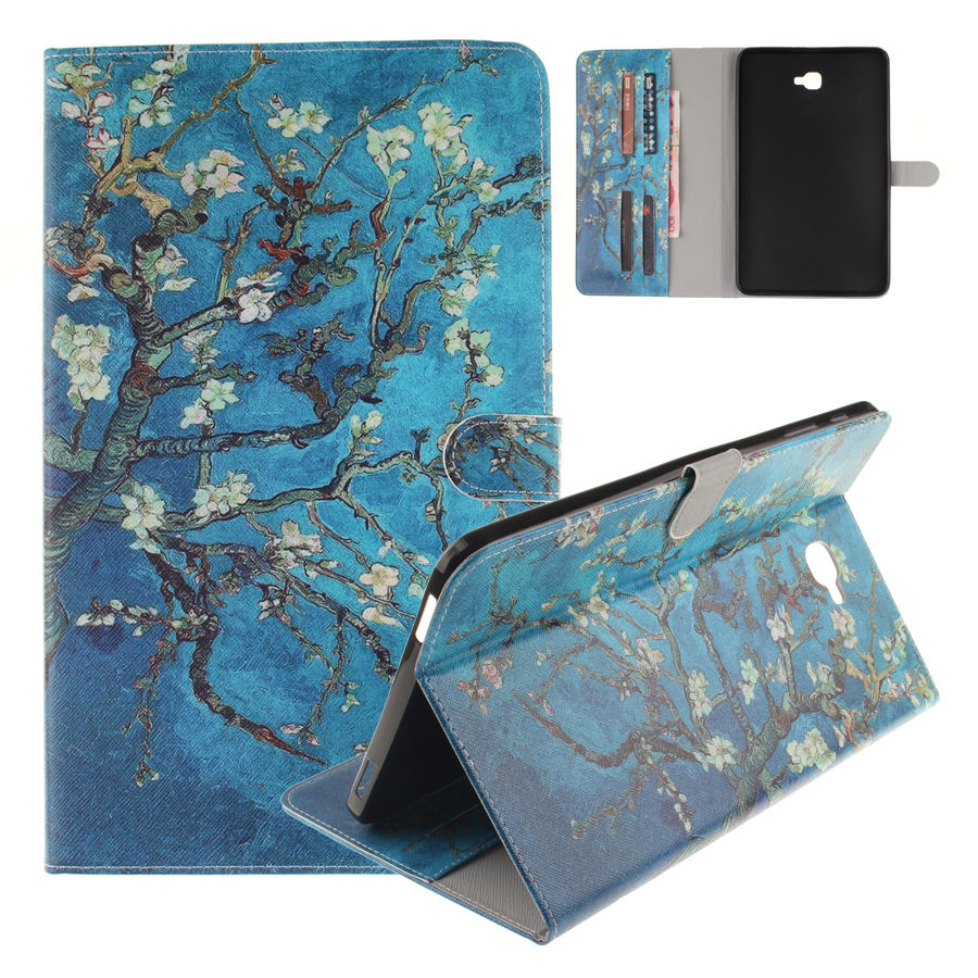 Tab A 10.1 Case Art Painting PU Leather Flip Stand Wallet Case Cover for Samsung Galaxy Tab A SM -T580 T580 10.1 inch Tablet flip left and right stand pu leather case cover for blu vivo air