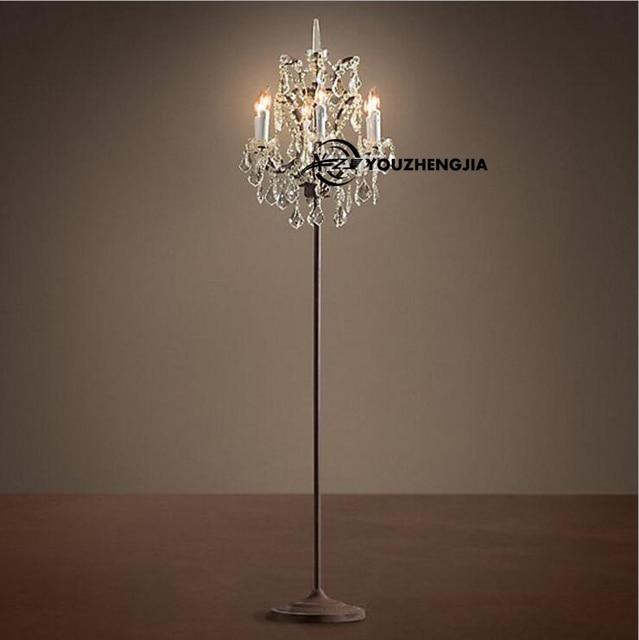 Moderne Amerikanische Retro Gehobenen K9 Kristall Kerze Stehlampe Luxus  Hotel Villa Wohnzimmer Dekoration Stehleuchte Leuchte