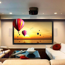 120″-inch Diag. 2.35:1 4K Ultra HD Ready HDTV Fixed Frame Home Theater projection projector Screen with cinema white
