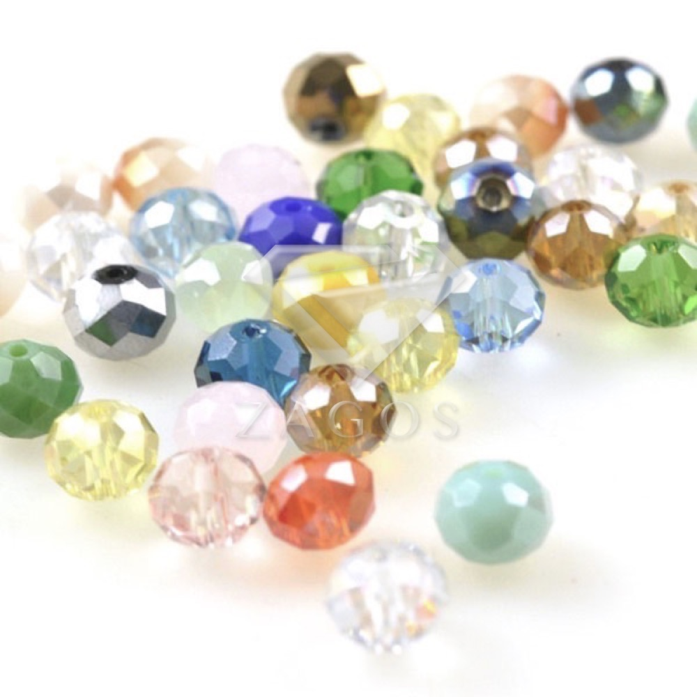 12mm 30-35 Faceted Rondelle Crystal Glass Beads CHOOSE FROM 41 COLOURS 8 10mm