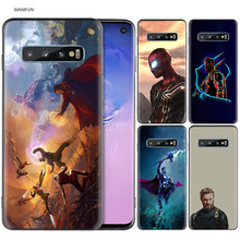 Marvel Superheroes The Avengers Black Silicone Case for Samsung Galaxy M20 S10e S10 S9 M10 M30 M40 S8 Plus 5G S7 S6 Edge Cover