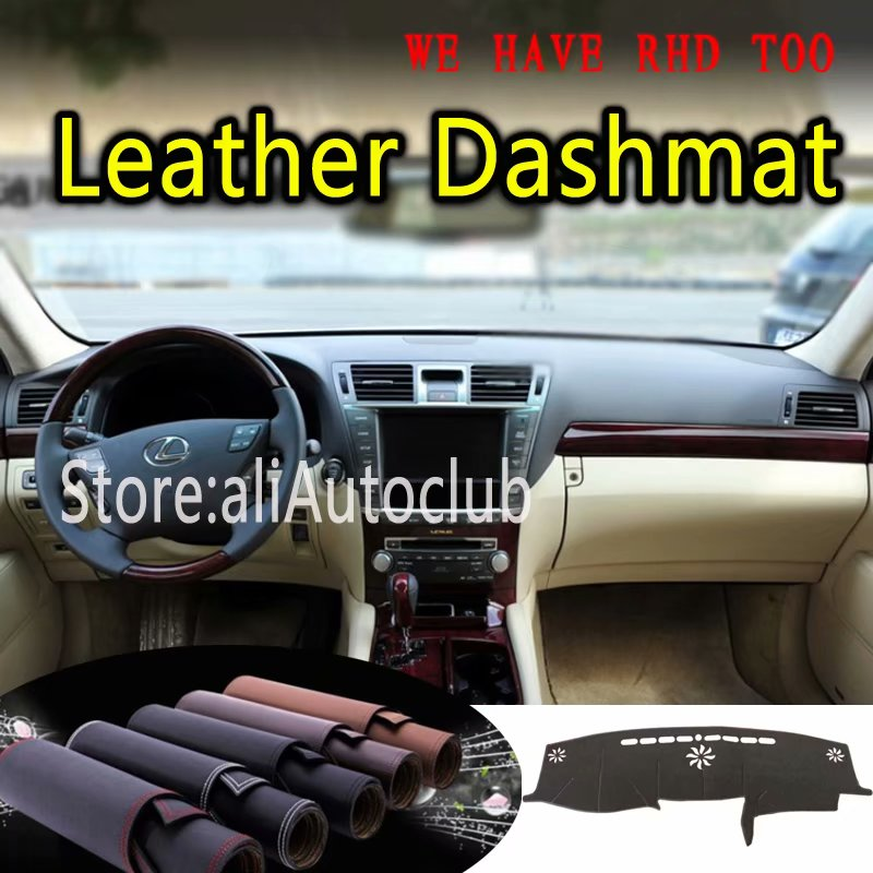 For Lexus LS460 LS600L 2006 2007 2008 2009 2010 2011 Leather Dashmat Dashboard Cover Dash Mat SunShade Carpet Custom Car Styling