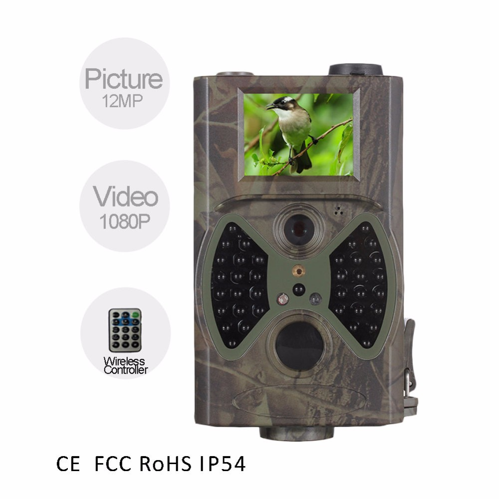 12 Languages HD Digital Infrared Scouting Camera 12MP Trail Camera Portable traps animal Wildlife Hunting Camera 940nm IR LED  ht 002li wildlife hunting camera hd digital infrared scouting trail camera ir led video recorder 12mp
