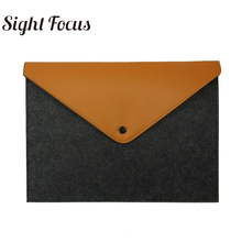 Sight Focus Brand Practica grey Felt Bags Light Handy A4 Documents  Briefcase For  MacBook Air Pro 13″ Cover School Office Case