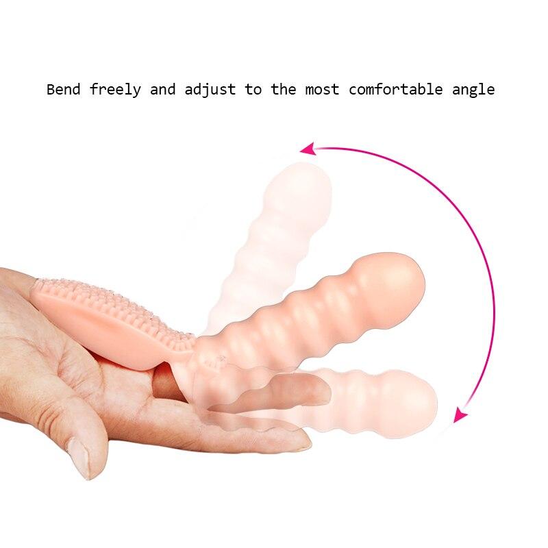 Vibrateurs de doigt jouets sexuels pour femme Clitoris Stimulation brosse vibrant doigt manchon G Spot Massage vibrateur produit de sexe adulte 6