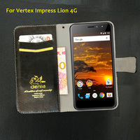 TOP New Vertex Impress Lion 4G Case 5 Colors Ultra Thin Leather Case Exclusive Phone Cover