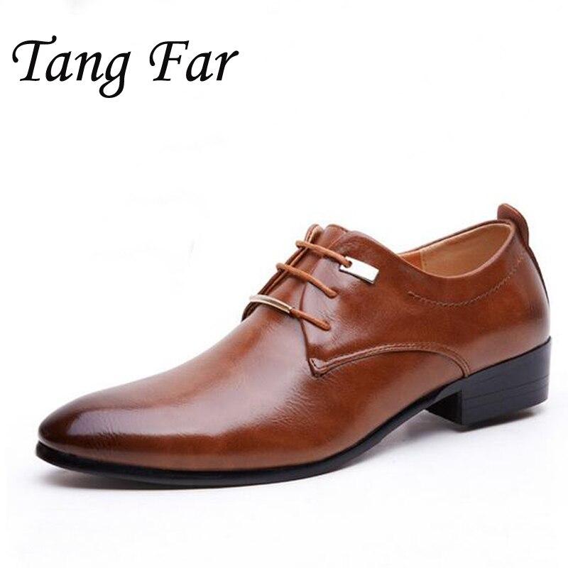 Мужская деловая обувь больших размеров, Рабочая обувь с острым носком, мужская кожаная офисная обувь на плоской подошве, Мужская обувь в стиле Дерби, высокое качество