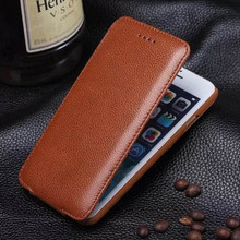 For iPhone 6 S Case Vertical Flip Cover for iPhone 6 6S Plus Genuine Leather Case Up and Down Corium Shell Adsorption 6S Cases