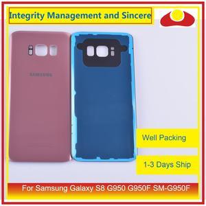Image 4 - 50 pièces/lot pour Samsung Galaxy S8 G950 G950F SM G950F boîtier batterie porte arrière couvercle en verre coque châssis