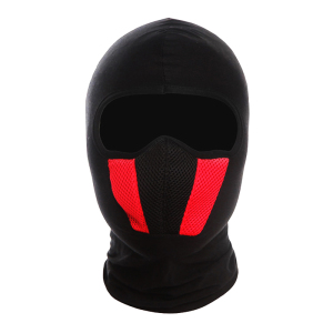 Cotton Grid Balaclava Hat Moto