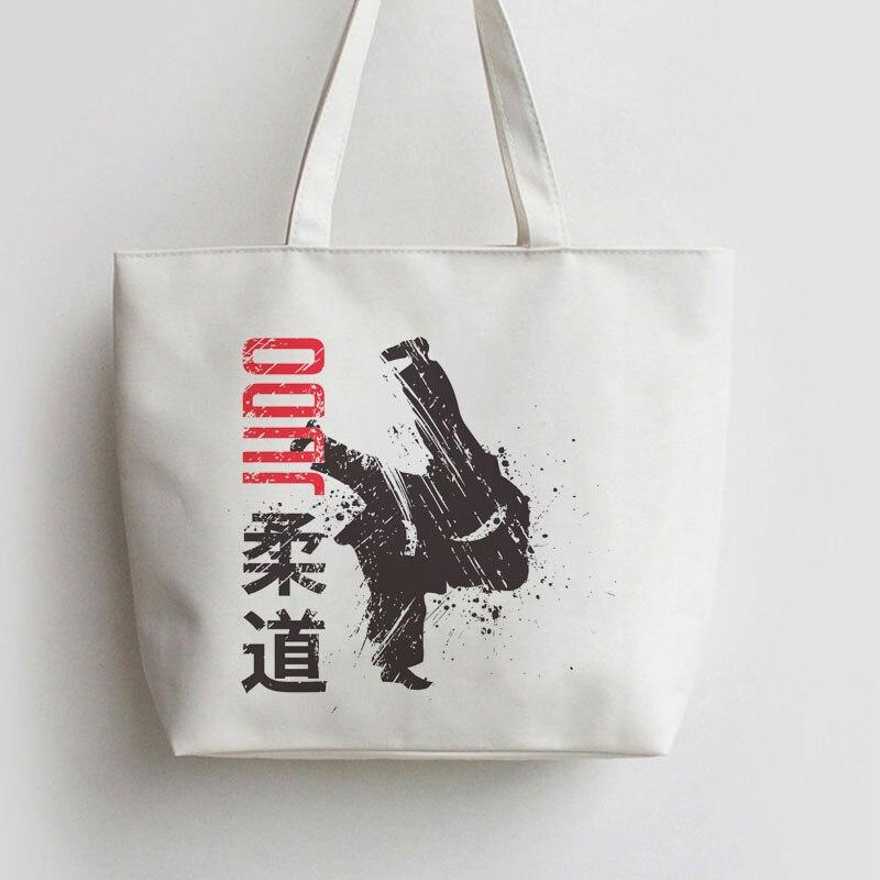 Japan Judo ,Martial Art Print ,Taekwondo Korean Lettering ,yogaDOG Canvas Tote bags Cartoon Shopping bag Shopper Grocery Bag tote bag