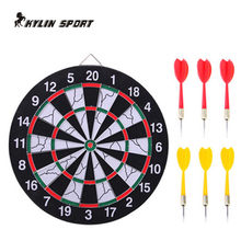 new indoor 15 inch sport double target dart magnetic flocking dartboard board double thickening for wholesale and freeshipping(China)