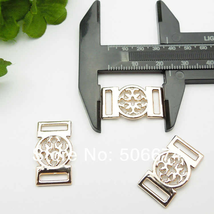 Hebillas de cinta para bricolaje de color dorado 13*24mm, 30 piezas deslizador de cinta para boda invitación accesorios en bowknot en bolsa zapatos