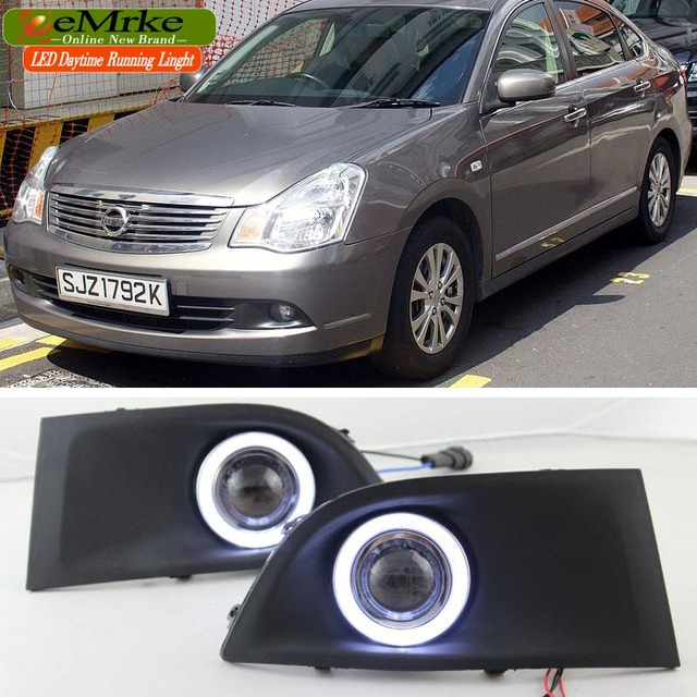 Eemrke для Nissan Sylphy G11 CCFL Ангел глаз DRL Габаритные огни Halogen-Bulbs-H11-55W Туман лампа Наборы