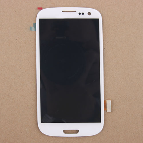ФОТО  White LCD Display Touch Screen Digitizer Glass Assembly For Samsung Galaxy S3 SIII i9300