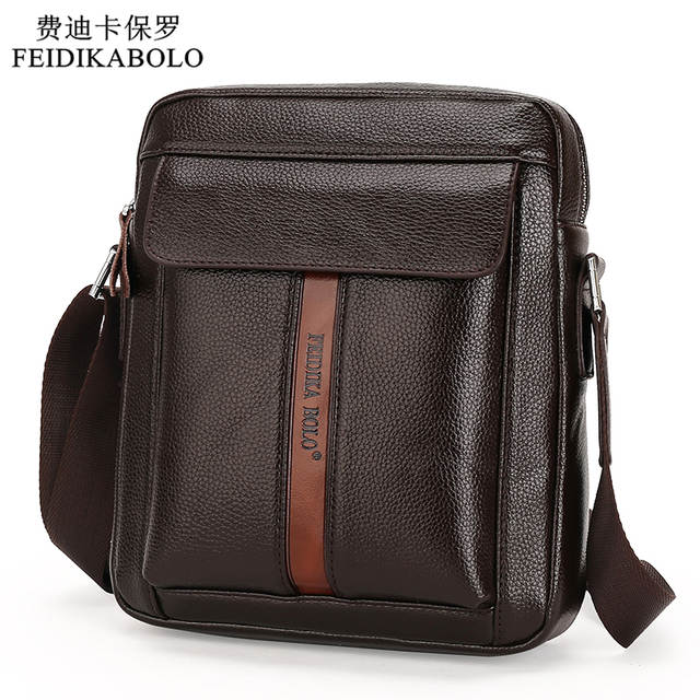 5018f1b442 Vintage Men Messenger Bags High Quality Soft Pu Leather Solid Hand Bags  Large Capacity Travel Men