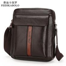 Vintage Men Messenger Bags High Quality Soft Pu Leather Soli