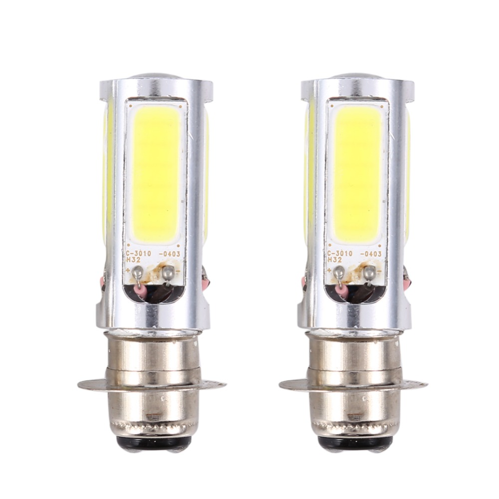 2pcs 6000k white 12v 20w motorcycle light h6m cob led motorbike atv headlight fog light bulb on. Black Bedroom Furniture Sets. Home Design Ideas